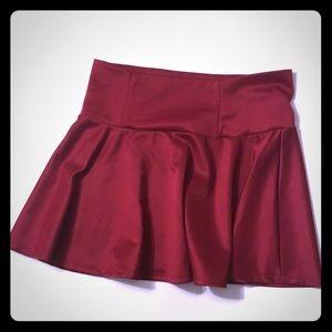 Short Large Burgundy Skirt